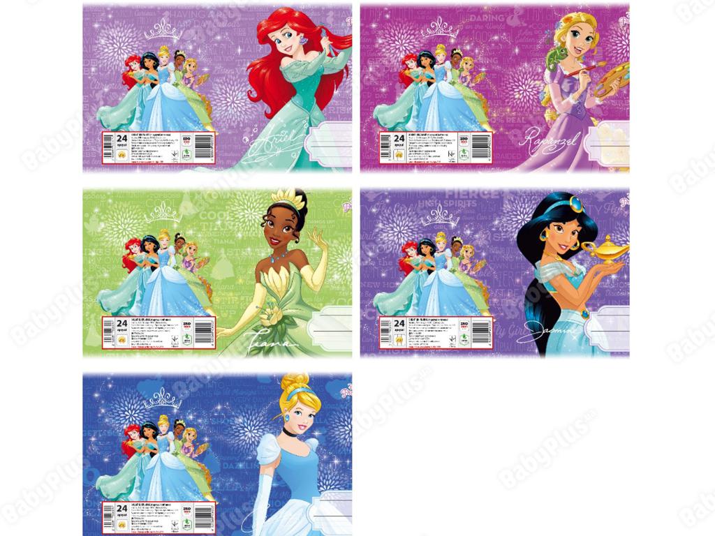 Купить Тетрадь 18 листов. Линия © Disney, серия Принцессы Диснея-3, Цена за упаковку 20 шт. недорого
